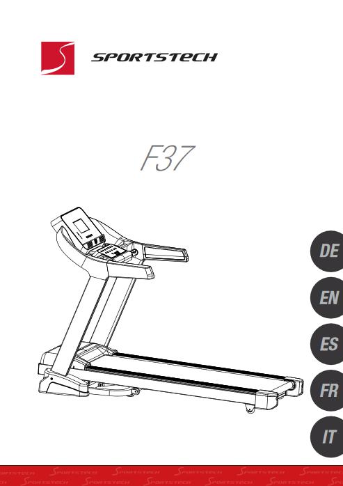 Manuel d'utilisation du tapis de course Sportstech F37 (FR)