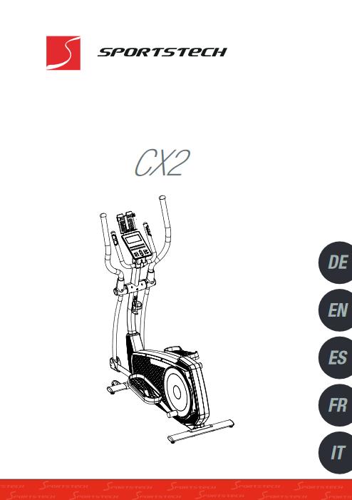 Manuel d'utilisation du velo elliptique Sportstech CX2 (FR)