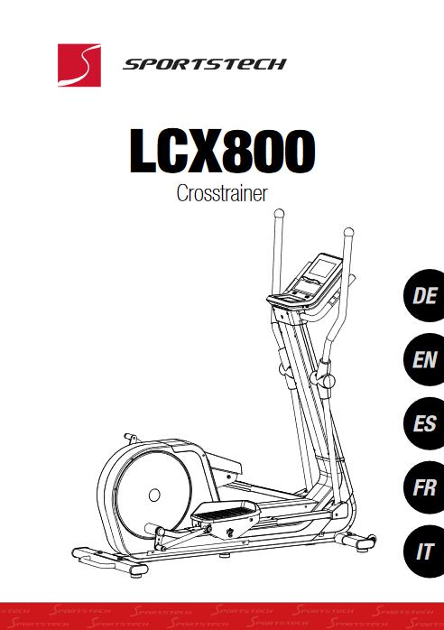 Manuel d'utilisation du vélo elliptique Sportstech LCX800 (FR)