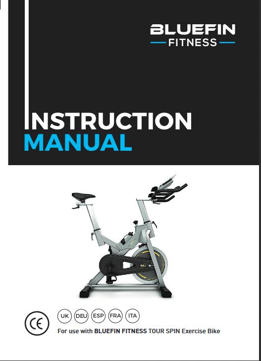 Manuel d'utilisation du vélo de spinning Bluefin Fitness Tour SP (FR)