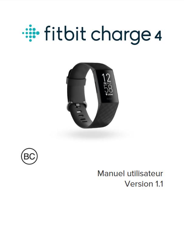 Manuel d'utilisation du bracelet connecté Fitbit Charge 4 (FR)
