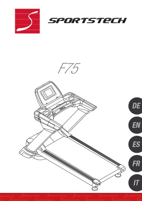 Manuel d'utilisation du tapis de course Sportstech F75 (FR)